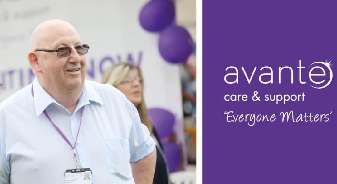 Avante Care & Support's longest serving Trustee and Patron, Bob Bushell retires